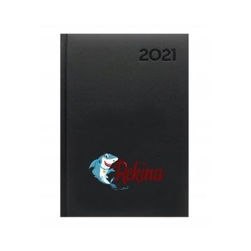 Kalendarz książkowy dzienny 2021 format A5 Rekina
