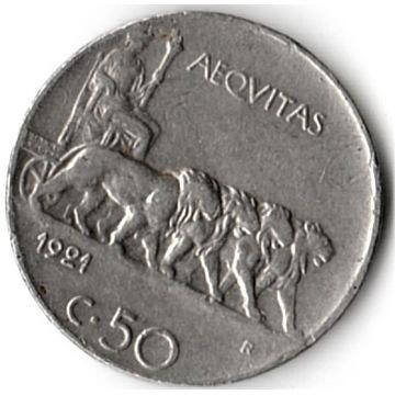 Włochy 50 Centesimi  1921 r