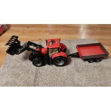 Traktor zabawka Case IH Optum 300 + akcesoria