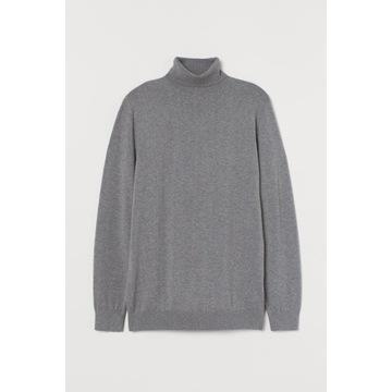 Cienki sweter z golfem męski H&M roz. M nowy