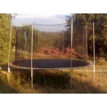 Trampolina ogrodowa duża 430 cm siatka drabinka