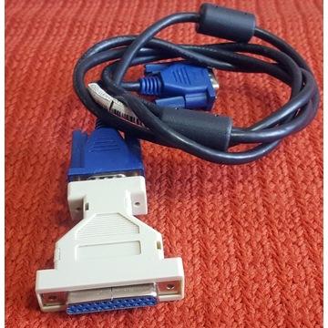 Kabel VGA do monitora około135cm+przejściówka VGA