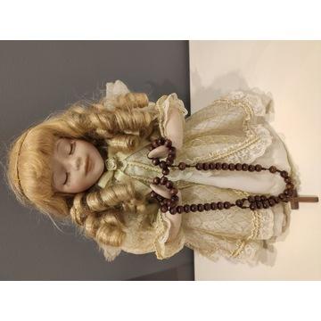 Porcelanowa lalka aniołek unikat skrzydła