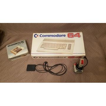C64, Kartridż, Magnetofon, zasilacz, AV, Joystick