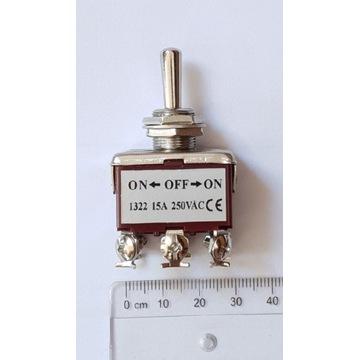 Przełącznik trójpozycyjny 1322 15A 250VAC