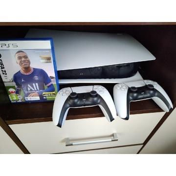 PlayStation 5 + 2 pady + fifa22