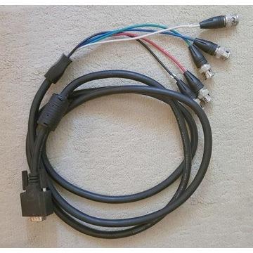 Kabel SVGA (Dsub HDB 15) na wtyk 5 x BNC - 2m