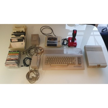 Commodore C64 - wielki zestaw, stacja 1541-II, gry