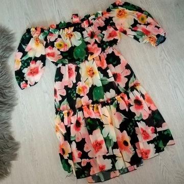 Piękna sukienka hiszpanka.