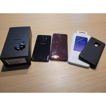 Samsung Galaxy s9 plus + etui × 2