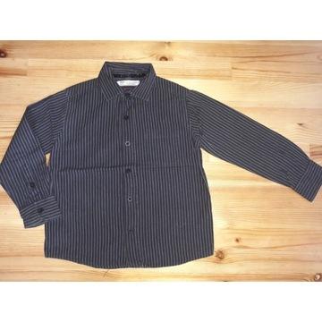 Czarna koszula w prążki Reserved 116 5-6 lat
