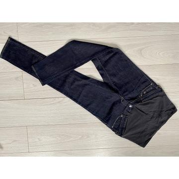 Spodnie ciążowe jeansy 40 slim H&M granat