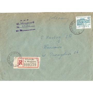 Mikołajki k.Mrągowa -Koperty listów polec. 1960-80