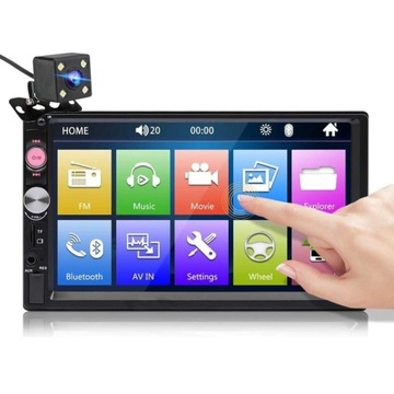 Radio dotykowe 2 DIN Android kamera +ramka GRATIS