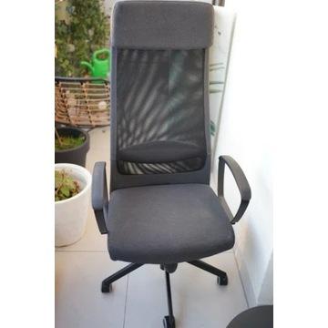 Krzesło IKEA - Markus, szare, materiałowe
