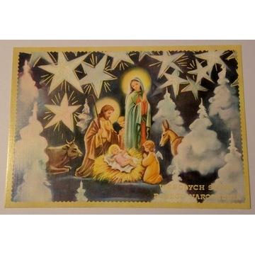 Kartka pocztówka Boże Narodzenie obieg