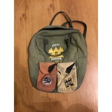 Zielony plecak campingowy