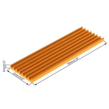 Radiator 3mm NVME M2 M.2 SSD 2280 cooler