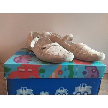 Skórzane beżowe baleriny Kornecki roz.34 (22,5 cm)