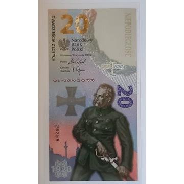 Banknot 20zł BITWA WARSZAWSKA 2020 R UNC + folder