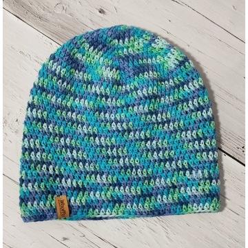 Szydełkowe czapki wiosenne-bawelna 52-56 cm