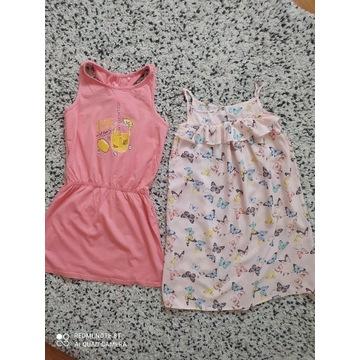 Sukienki letnie zestaw Reserved H&M r 140 jak nowe