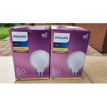 philips led 7w 860 lumen e27 x2