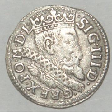 3 Grosze ZYGMUNT III WAZA  Ryga 1600