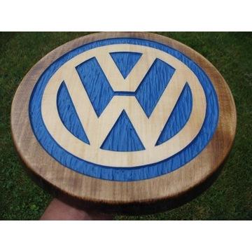 Volkswagen Ręcznie rzeźbione logo w drewnie UNIKAT