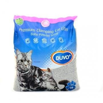Żwirek dla kota DUVO+ betonitowy 15KG