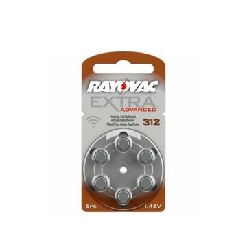 30x baterie Rayovac Extra Advanced 312