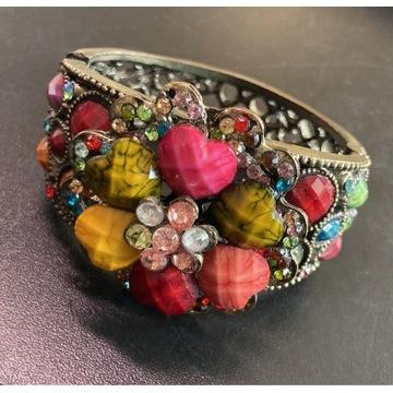 Duża kolorowa bransoleta