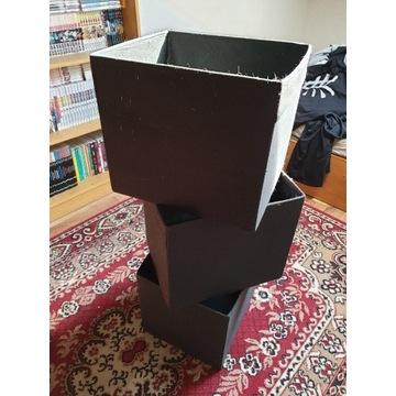 IKEA 3 pudła kwadratowe do przechowywania