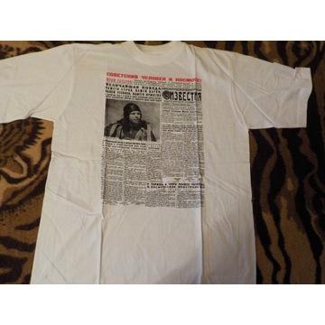 Podkoszulek T-shirt gagarin gazeta Izwiestija XL