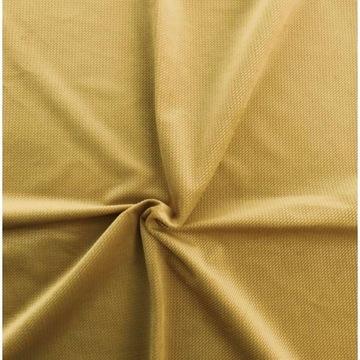 dzianina tkanina velvet cegiełka musztardowy