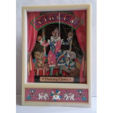 Pozytywka-Tańczący klaun-music box-vintage!