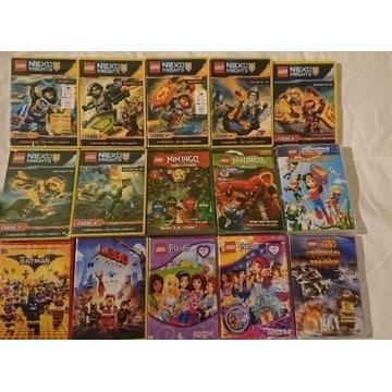 Lego 15 x dvd,nexo,batman,friends,ninjago,przygoda