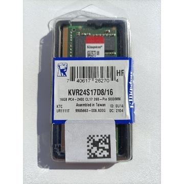 Kingston 16GB DDR4 2400MHz CL17 1,2V KVR24S/16