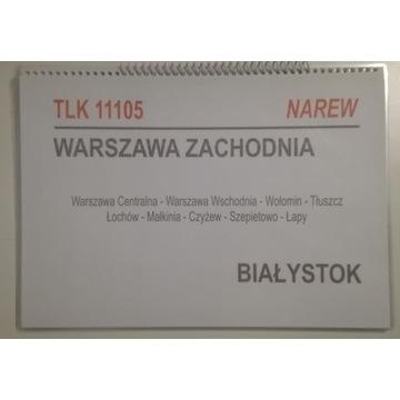 Tablice relacyjne TLK - Zwijka PKP IC Intercity