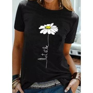 T-shirt damski - L
