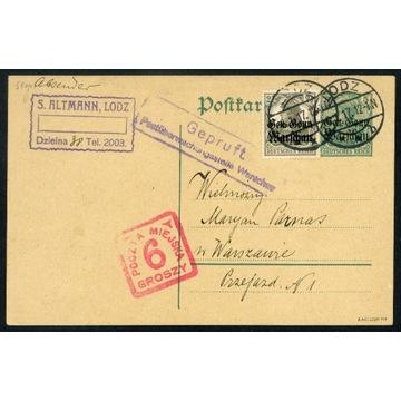 1917 POCZTA MIEJSKA Warszawa gwar. Korszeń