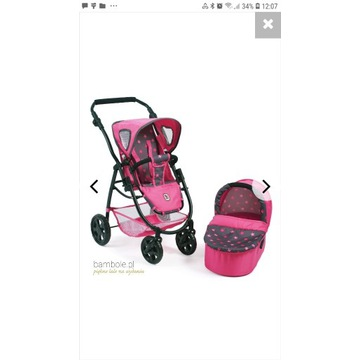 Wózek dla lalek 3 w 1