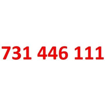 731 446 111 starter play ładny złoty numer