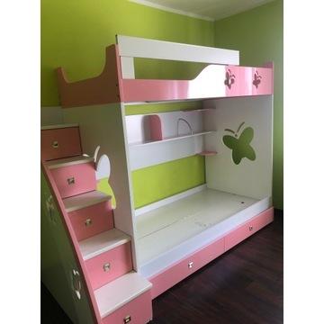 Łóżko piętrowe, różowe dla dziewczynek!!