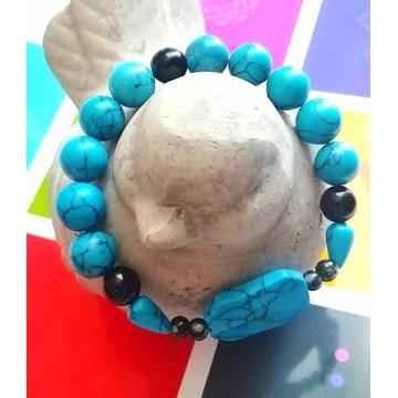 Wyjątkowa Bransoletka koraliki - howlite kamień