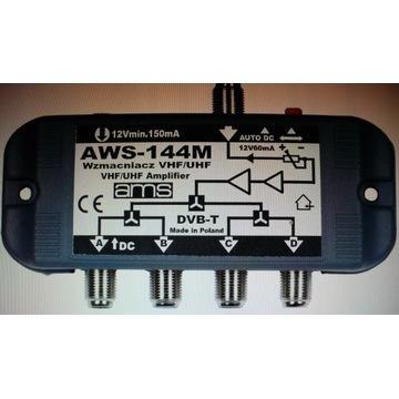 Wzmacniacz antenowy  AWS-144M szerokopasmowy