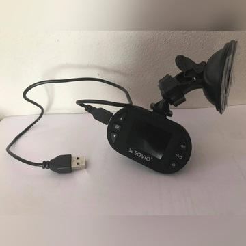 Wideorejestrator Savio + karta pamięci 16 GB