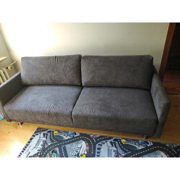 Sofa rozkładana kanapa szara łóżko SKY