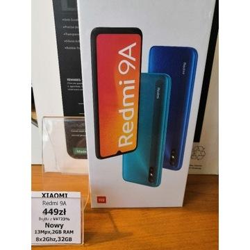 Xiaomi redmi 9A Nowy fv23 Gw24 + gratis