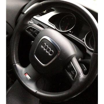 Kierownica Audi A5 A4 B8 Q5 A3 - Pikowana Łopatki